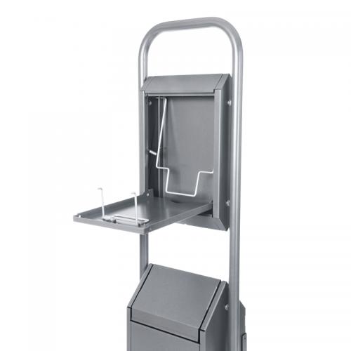 Standard Combi Schwingdeckel aus Edelstahl, Innenansicht oben