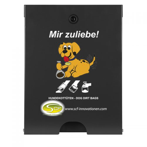 Spender Flexi in RAL 7021 Schwarzgrau