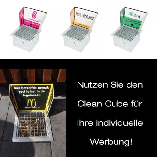 Clean Cube als Werbemittel