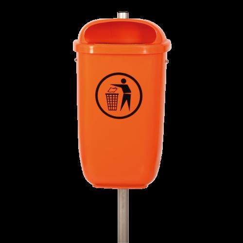 Abfallbehälter Flexi in 2004 Reinorange lt. DIN 30713