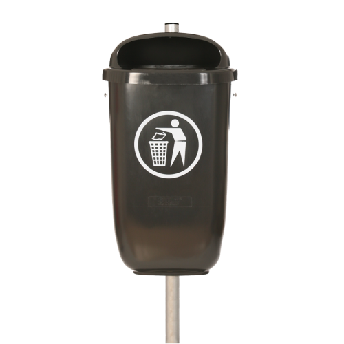 Abfallbehälter Flexi in 7021 Schwarzgrau lt. DIN 30713