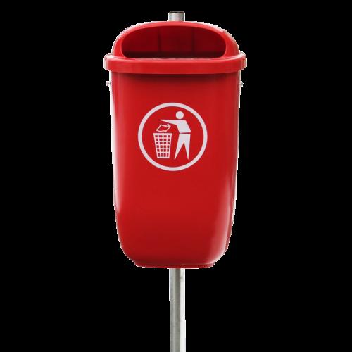 Abfallbehälter Flexi in 3020 Verkehrsrot lt. DIN 30713