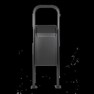 Abfallbehälter Schwingdeckel mit Bügel in DB703 Anthrazit-Eisenglimmer