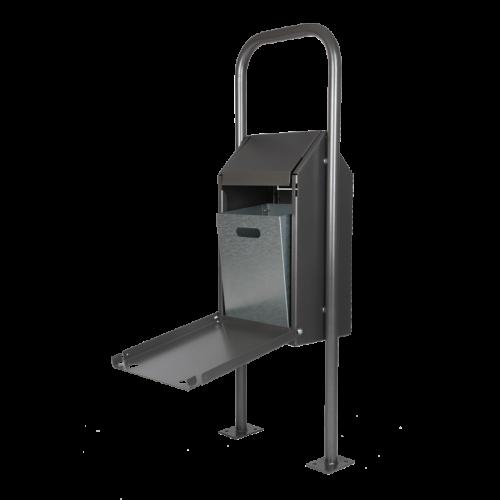 Abfallbehälter Schwingdeckel mit Bügel in DB703 Anthrazit-Eisenglimmer, Innenansicht